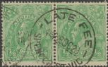 SG 20b ACSC 63(7)e. KGV Head ½d Green pair (AHSUP/48)